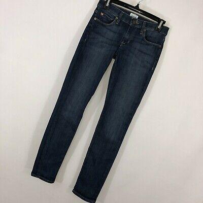 Hudson Jeans 24 Colette Midrise Skinny Slim Leg Dark Blue Wash Stretch Womens -