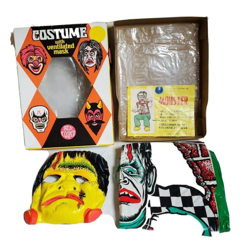 Vintage 1970s Ben Cooper Halloween costume monster costume in original box rare