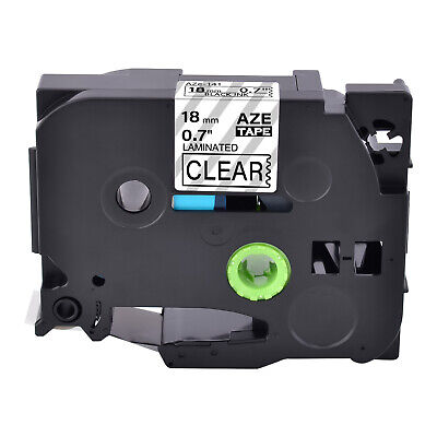 1pk Fits Brother P-touch Tz-141 Tze-141 Black On Clear Label Tape Ptd400 34