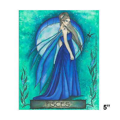 STICKER - Jessica Galbreth Fairy Pisces Horoscope Astrology Zodiac SD35