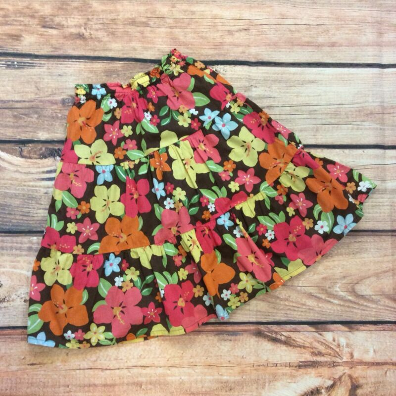 Gymboree Aloha Sunshine Floral Tiered Skirt Size 6