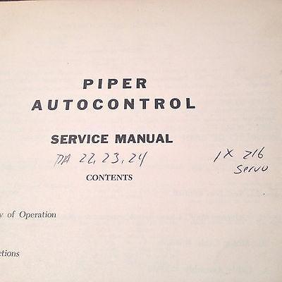 1960s Piper Mitchell Edo AutoControl in PA-22, PA-23 & PA-24 Service manual