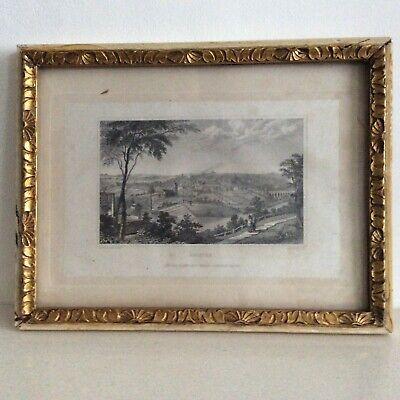 Antique Print of an Engraving of Halifax, N Whittock/J Rogers