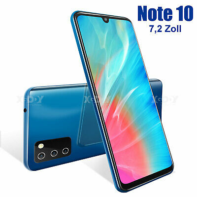 2020 Note 10 7,2 Zoll 4G Smartphone Android 9.0 Handy Ohne Vertrag LTE Dual SIM