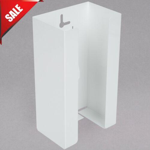 Wall Mount White Disposable Glove Dispenser 1 Box Holder Commercial Rack Mounted