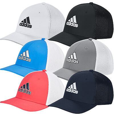 Adidas 2019 Mens A-Stretch Tour Fitted Golf Cap Breathable Mesh Baseball Hat Adidas Stretch Hat