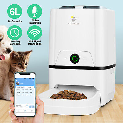 6L Smart APP Control Automatic Pets Feeder Dry Food Dispenser Cat Dog WiFi Timed