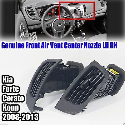 For Kia Forte Cerato 2008-2013 Matte Black Front Air Vent Center Nozzle LH RH 2P