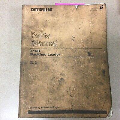Cat Caterpillar 416b Tractor Backhoe Loader Parts Manual Book Catalog Sn 8sg 8zk