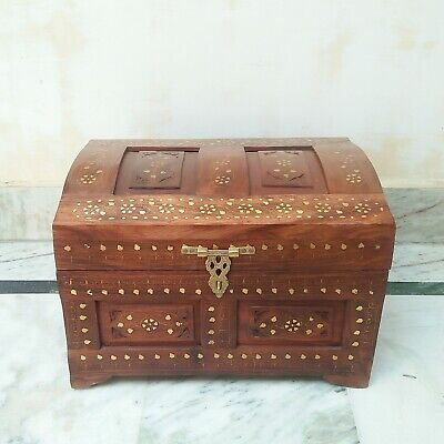 """13/"""" Map Chest Treasure Chest by Well Pack Box"""