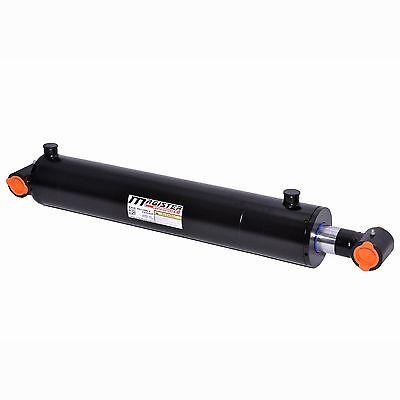 "Hydraulic Cylinder Welded Double Acting 2/"" Bore 20/"" Stroke PinEye End 2х20 NEW"