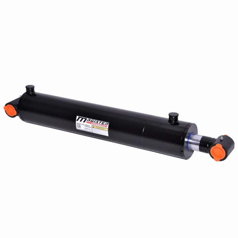 """Hydraulic Cylinder Welded Double Acting 3.5"""" Bore 36"""" Stroke Cross Tube 3.5x36"""