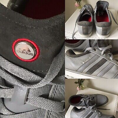 Mens ADIDAS ADICROSS Spikeless GOLF SHOES UK 10 WATER GREY LEATHER SUEDE