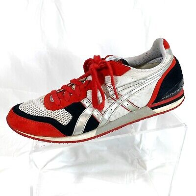Asics Onitsuka Tiger Ultimate 81 HN7P2 Men's Shoes Red/White Suede Size 9