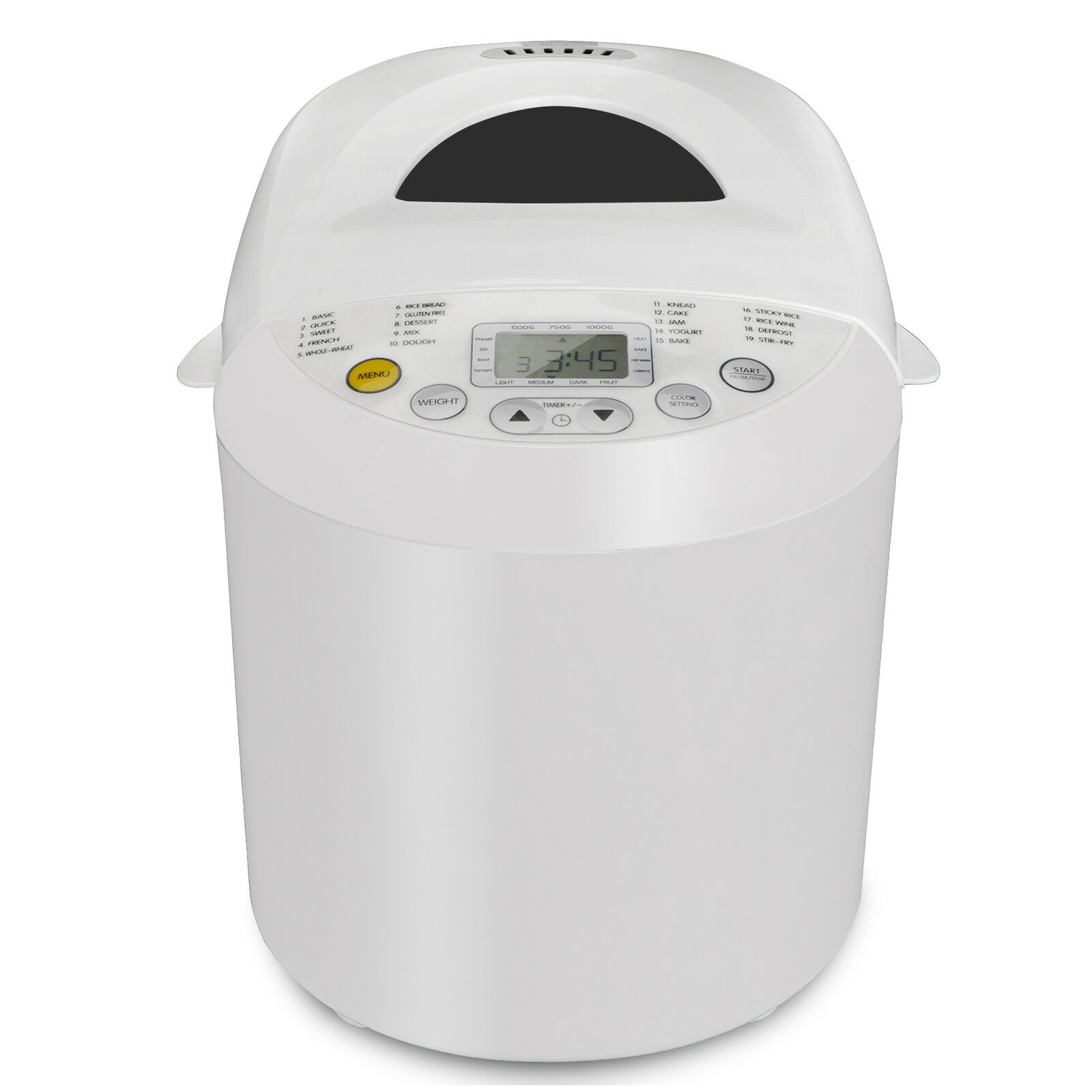 DELLA 2LB Bread Maker Machine Automatic Programmable Timer Multi Functional 3 Crust Colors w// 15 Settings LCD Display