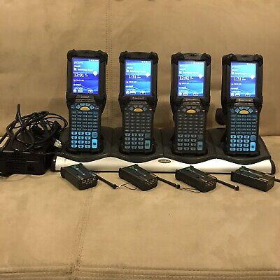 Lot Of 4 Symbol Motorola Mc9190-ga0sweqa6wr Windows 6.5 Barcode Scanner W Extras