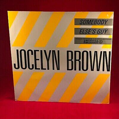 "JOCELYN BROWN Somebody Else's Guy 1984 UK 12"" vinyl single EXCELLENT CONDITION"
