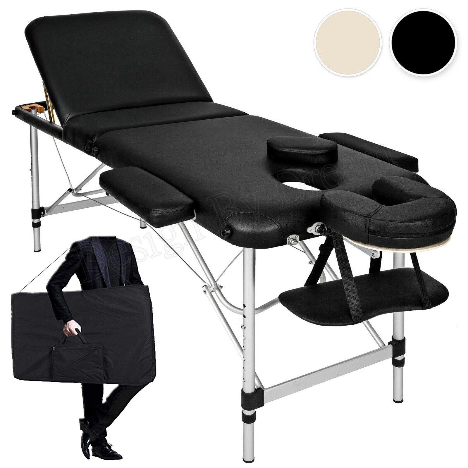 Alu Massageliege Massagetisch Massagebank Therapieliege klappbar 3 Zonen +Tasche