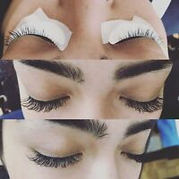 Parlashes eyelash extensions full set 60$