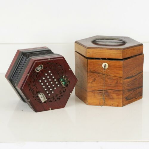 1960 Wheatstone Concertina Vintage English Squeezebox Made in London w/ Old Box!