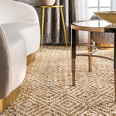 Braided Rug Indoor Outdoor Carpet Natural Fibres Geometric Jute Rugs Kitchen (Outdoor Carpet Mats)