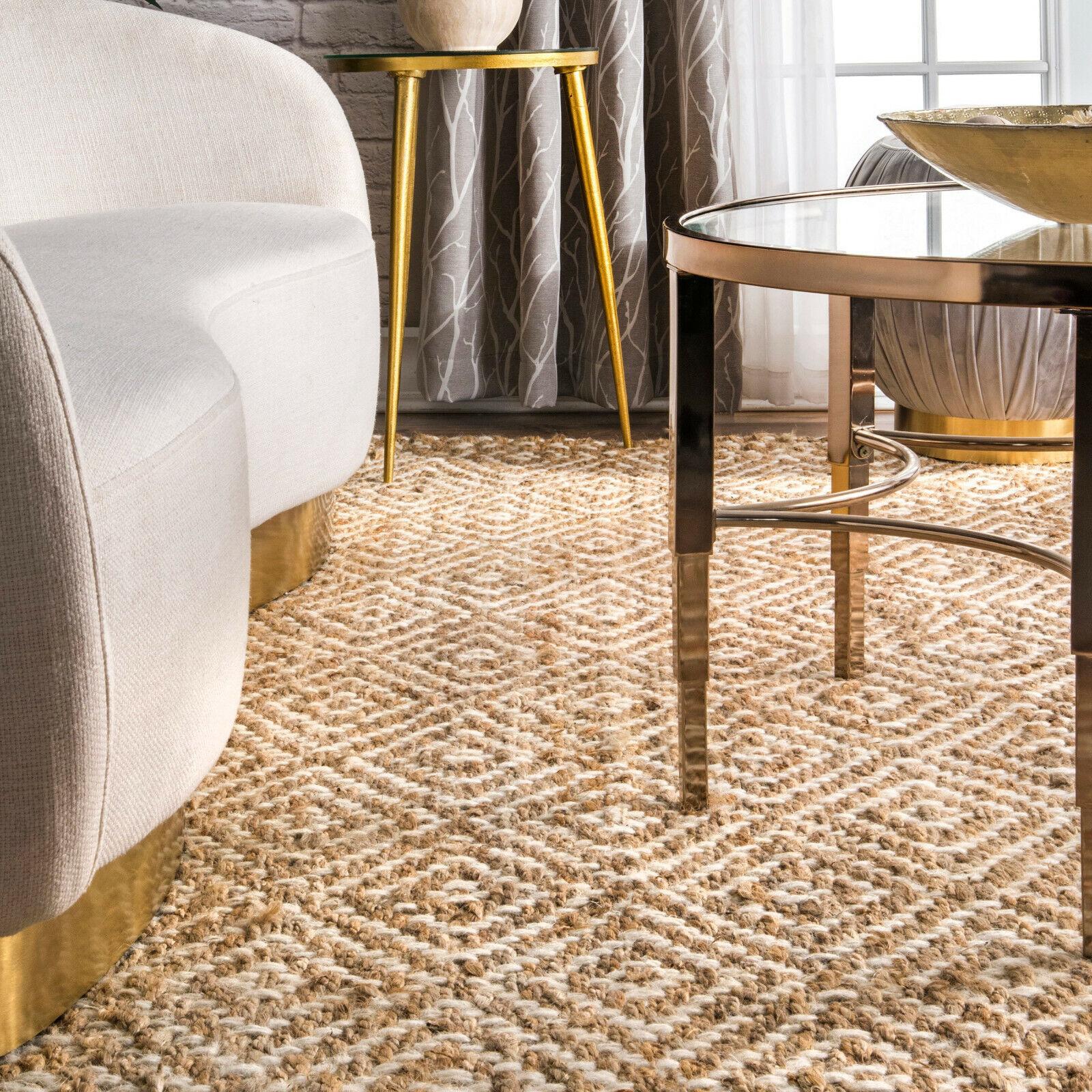 Braided Rug Indoor Outdoor Carpet Natural Fibres Geometric J