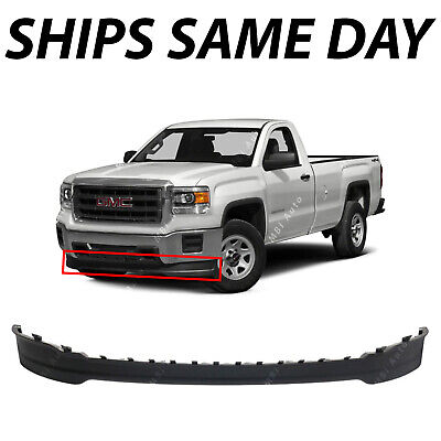 NEW Black Front Lower Bumper Air Deflector for 2014 2015 GMC Sierra 1500 14 -