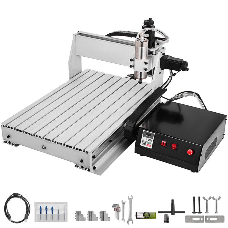 3 Axis CNC 6040 Engraving Milling Machine Chrome Plate Shaft PVC Engraving
