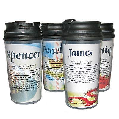 Travel Mug Personalized with Meaning of Name - Personalize Mug