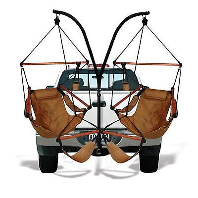 Trailer Hitch Stand and Hammock Chair Natural Tan Truck Seat Camping Gear Sleep ()