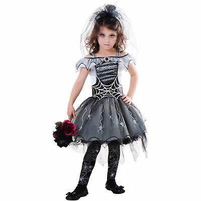 Goth Spider Bride Child Cosplay Costume  Large - Halloween Spider Bride