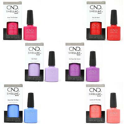 CND Shellac UV Nail Gel Polish NEW Nauti Nautical Colours Choose from 6 colours