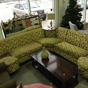 Vintage sectional sofa at the Habitat ReStore