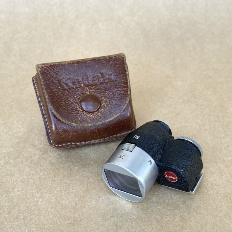 Kodak Retina Optical View Finder 35-80mm For Retina Cameras W/ Leather Case