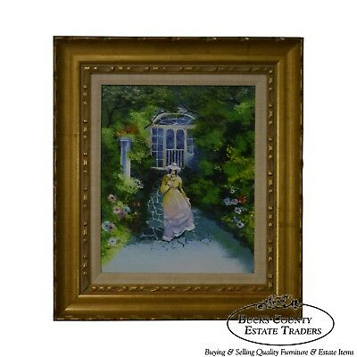 Parthesius Enamel On Copper Southern Belle Framed Painting