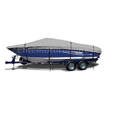 Stratos 210 Elite Bass Trailerable Fishing Boat Cover grey