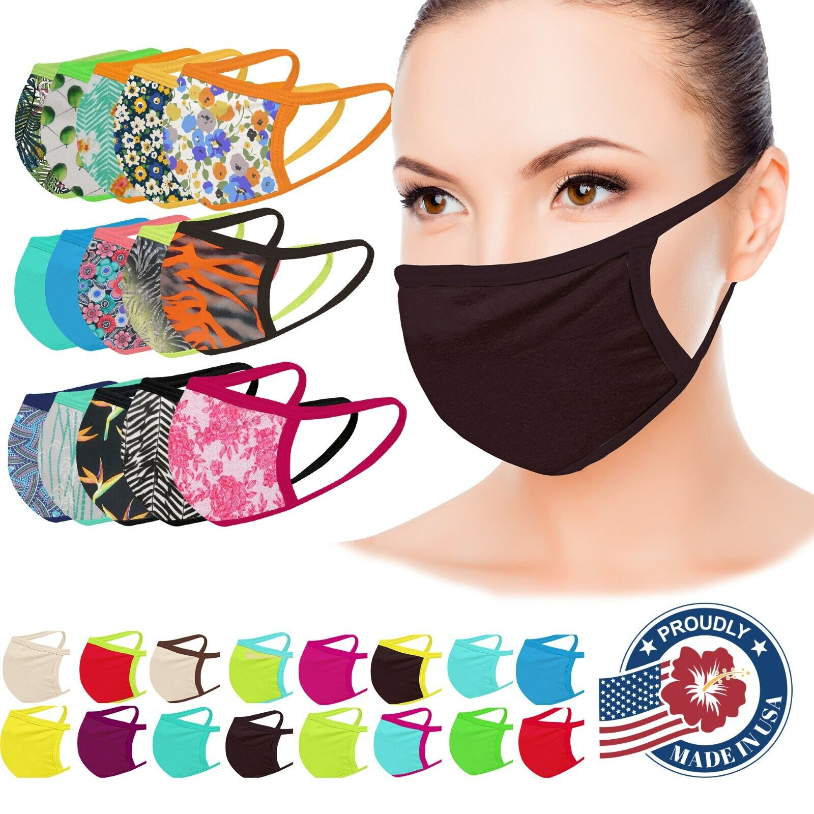 Face Mask Washable Facemask Mouthmask DRY QUICKLY Pocket for Filter MADE IN USA Accessories
