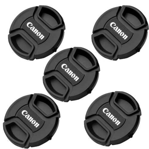 """5 Packs 55mm Snap-On Front Lens Cap for Canon lens replaces E-55 """"US Seller"""""""
