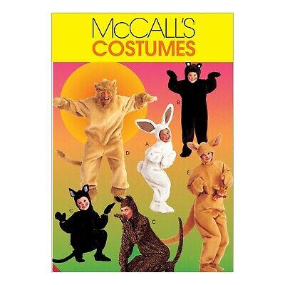 McCalls Schnittmuster M6106 - Kostüme - Hase, Bär, Katze, Löwe, Känguru, ....