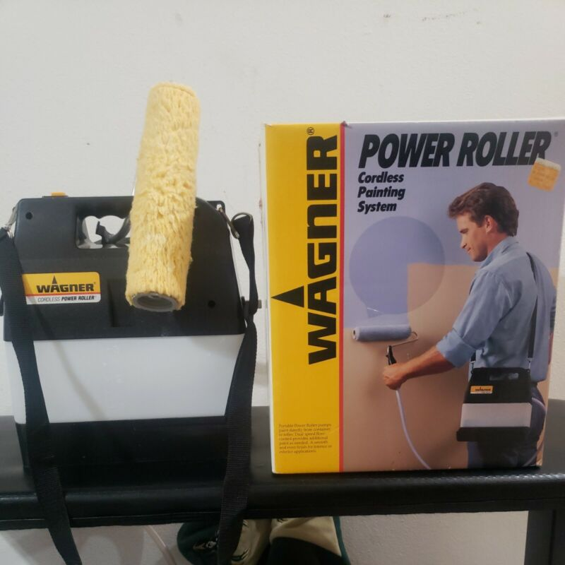 Wagner Power Roller Cordless Paint Painting System Model 0156030 Used