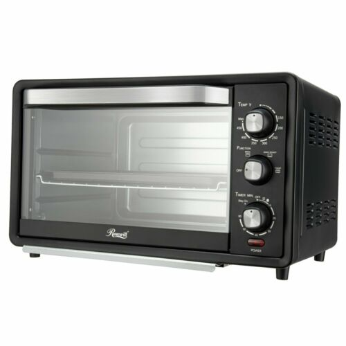 """6-Slice Toaster Oven 19L Countertop Bake/Broil/Toast 12"""" Pizza"""