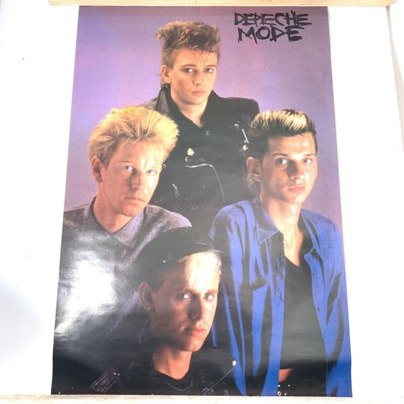 Depeche Mode Vintage Poster Group Shot By Sheila Rock 1985