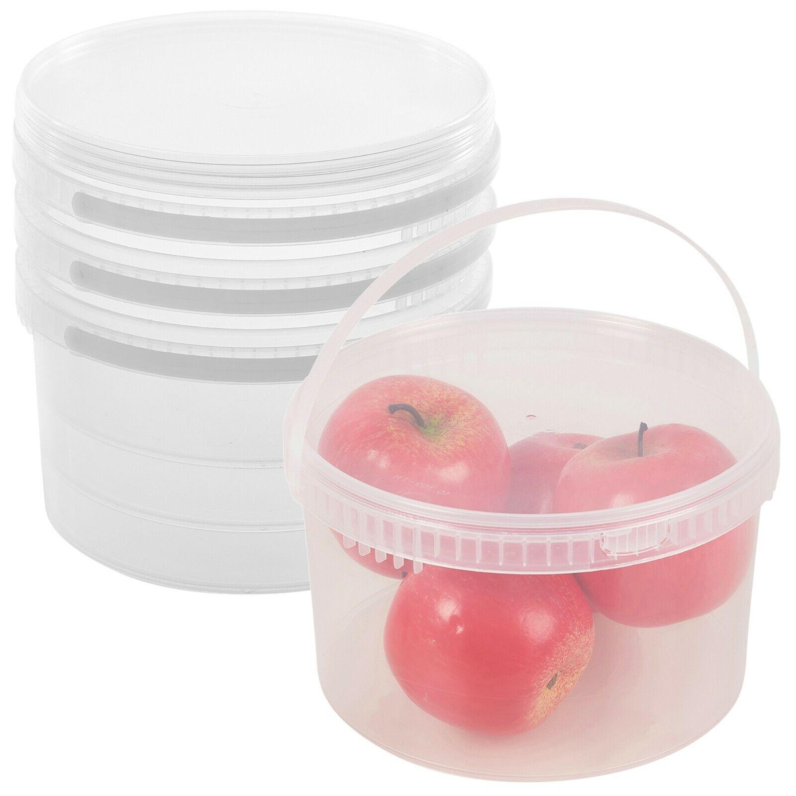 2.7 Litro Plastica Trasparente Preservare Barattoli con Coperchi E Porta Manico