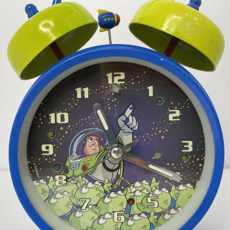 Buzz Lightyear Aliens Twin Bells Alarm Clock Toy Story Blue Green