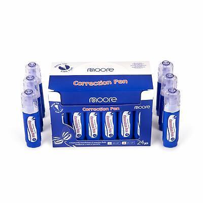 Moore Liquid Correction Pen Box Of 24 - Multi-purpose Liquid Whiteout With