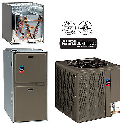 Sure Comfort 80% 100K BTU Upflow Natural Gas Furnace W/ 3 Ton Heat Pump & Coil