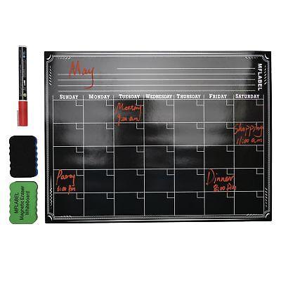 16 X 12 Dry Erase Magnetic Refrigerator Calendar Flexible Black Board Planner