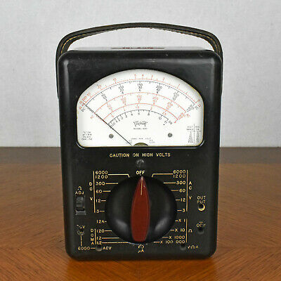 Vintage Triplett 630 Multimeter Classic Analog Voltmeter Ac Dc Ohm Untested