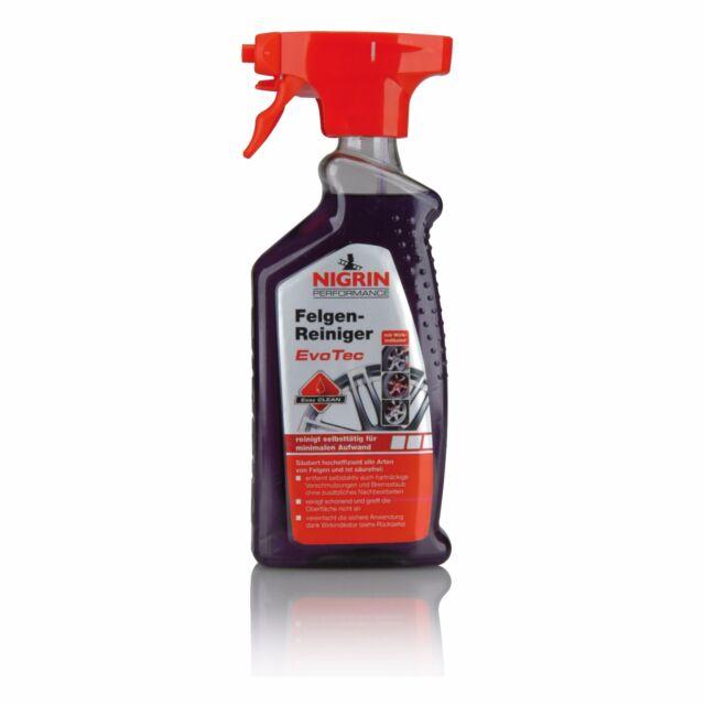 3 x NIGRIN Performance EvoTec Felgenreiniger 500ml - 72931 Felgen Reiniger Spray