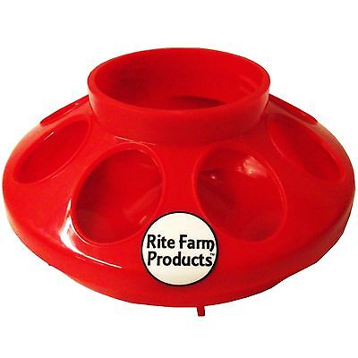 Red Rite Farm Products Feeder Base For Polyglass Quart Jar Poultry Chicken